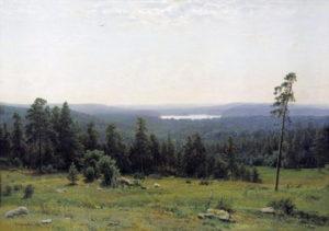 """""""Лесные дали"""",1884;"""