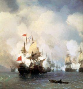 """""""Бой в Хиосском проливе 24 июня 1770 года""""."""