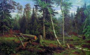 """""""Рубка леса"""", 1867"""