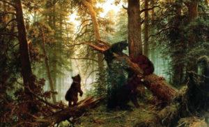 """""""Утро в сосновом лесу"""", 1889"""