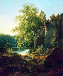 """""""Вид на острове Валааме"""", 1858;"""