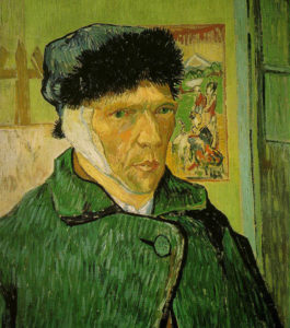 """""""Ван Гог с отрезанным ухом""""."""